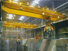 Grab double girder overhead crane