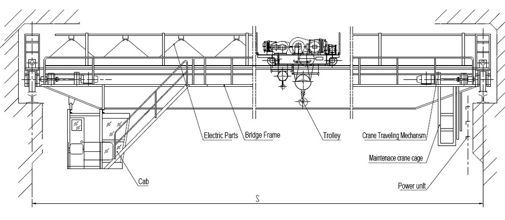 overhead crane bridge crane drawing
